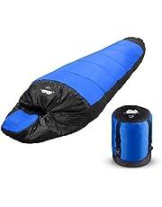TDW Schlafsack Outdoor Camping, Warm Schlafsack Ultraleicht mit Polyester Nylon Mumienschlafsack für Herren Damen Erwachsene Im Outdoor Camping Reise Indoor Winter Sommer Vier Jahreszeiten