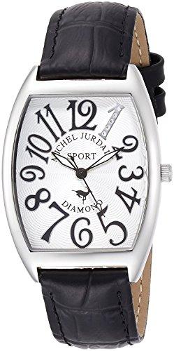 michel Jurdain Michel Jordan Men's Watch tonneau-shaped natural diamond containing SG1000-11 SG1000-11 Men's by michel Jurdain (Michel Jordan)