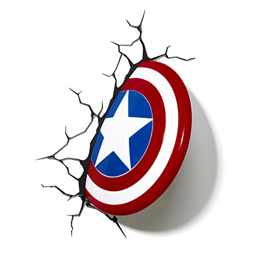 Comics+3D+Night+Lamp+ Products : Marvel Comics 3D Captain America Shield Wall Light