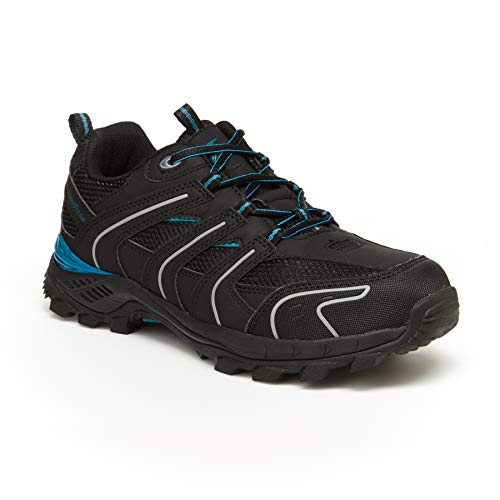 Goodyear Stratus Casual Yet Stylish Men's Steel Toe Low Boot; Low Boot Style Black/Turquoise ()