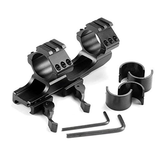 HonsCreat 1 inch /30mm QD Quick Release Cantilever Weaver Forward Reach Dual Ring Rifle Scope Optics Mount