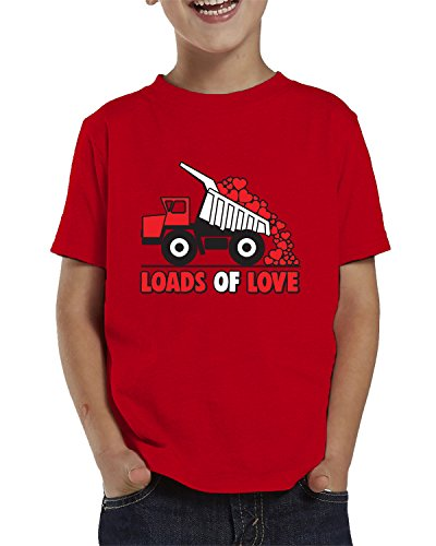 SpiritForged Apparel Loads Of Love Dumptruck Toddler T-Shirt, Red 5T/6T