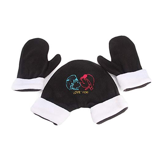 2aef23adc42 KathShop Couple Lovers Gloves Polar Fleece Sweethearts Thicken Winter Warm  Lining Christmas Glove Lovers Mittens