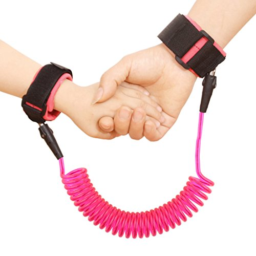 Baby Child Anti Lost Safety Wrist Link Harness Strap Rope Leash Walking Hand Belt Band Wristband for Toddlers, Kids(2.5m Pink)