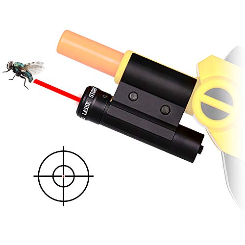 LIRISY Bug & A Salt Gun Laser Sight | Aiming Scope Fits 2.0, All Versions of Fly and Insect Eradication Shotgun | Airsoft BB Pump Spring Assault Rifles Accessories by LIRISY