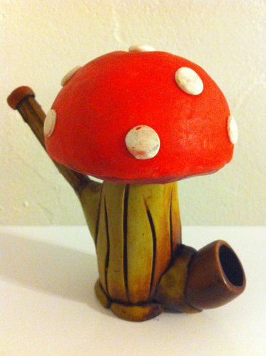 Handmade-Tobacco-Pipe-Power-Up-Mushroom-Design