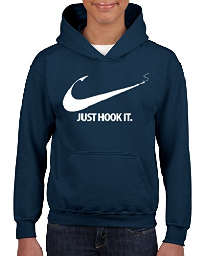 Acacia Just Hook It Unisex Hoodie For Girls and Boys Youth Sweatshirt X-Large Navy - Boys Superdry