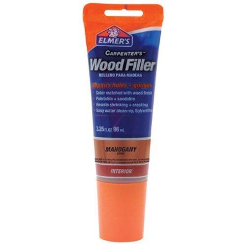 Elmer's E864 Carpenter's Wood Filler, 3.25-Ounce Tube, Mahogany - 12 Pack