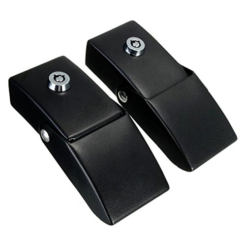 (New-Sky-View - Black Locking Hood Catch Kit Car Key Guard Fit For 2007-2015 Jeep Wrangler JK)