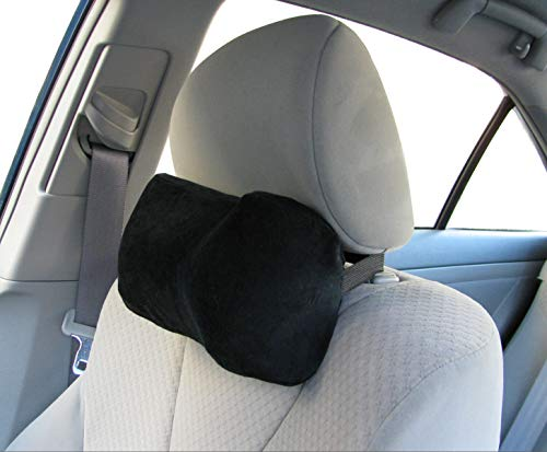 TravelMate Car Neck Pillow (Soft Version)- Neck Pillow; Car Pillow; Memory Foam Neck Pillow; Neck Rest Pillow; Car Neck Pillow (Color: Black)
