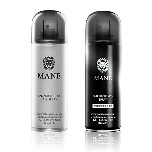 Mane America Hair Thickener Spray Combo (200ml) (Black)