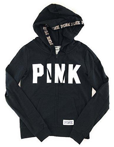 Victoria's Secret PINK Perfect Zip Hoodie Pure Black Medium