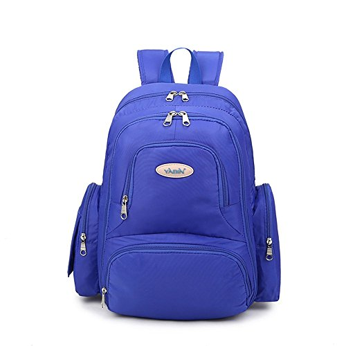 Bolso de la mamá del hombro, bolso de múltiples funciones de la madre de gran capacidad, mujeres embarazadas salen la mochila, madre verde para ser producido paquete ( Color : Sapphire blue point ) Azul