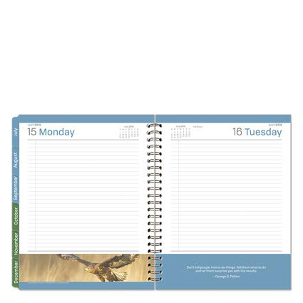 Monarch Leadership One-Page-Per-Day 6 Month Wire-Bound Planner - Jul 2019 - Dec 2019
