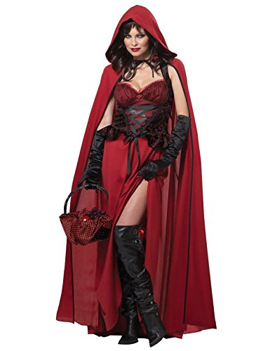 California Costumes Women's Dark Red Riding Hood Adult, Red, X-Large ()