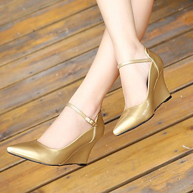 Buckle US8 Women'sHeels EU39 Strap Summer 5 FYios UK6 Party CN40 Outdoor Stiletto Leatherette 5 amp; Heel Walking Dress T Evening 14wxxq7Bg6