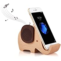 Artinova Elephant Shape Multifunctional Wooden Wireless Bluetooth Speaker with Mobile Phone Stand Holder ARTA-0031