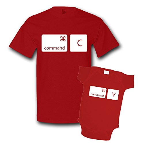 - Command Copy Command Paste Shirts Matching Father Son Shirts Bodysuit Clothing True Red