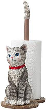 YAzNdom Papierhandtuchhalter Katze Dekorative Papierhandtuchhalter Küche Toilettenpapierhalter Entzückend for Handtuchrollen Im Badezimmer verwendet (Color : Gray, Size : 15x24.5x38cm)