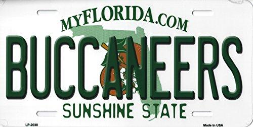(Buccaneers Florida State Background Novelty Metal License Plate Tag (Buccaneers) )