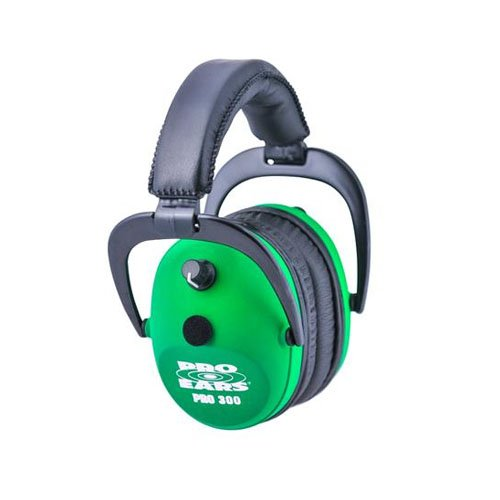 Pro Ears 300 NRR 26DB Hearing Protector, Neon Green by Pro Ears
