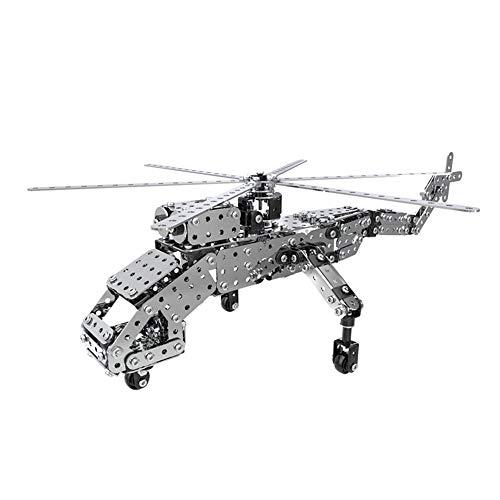 INKPOT ブロック フライングクレーン 3D 立体パズル 玩具 軍用機 金属モデル 模型 DIY手作り 組み立て式 知育おもちゃ 6歳以上 コレクション プレゼント 贈り物 誕生日 親子遊び 軍事用飛行機 取扱説明書付き
