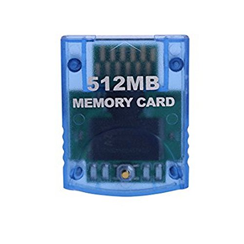 Mekela Memory Card 512MB (8192 Blocks) Compatible Nintendo Wii Gamecube Game Cube NGC GC (Blue)