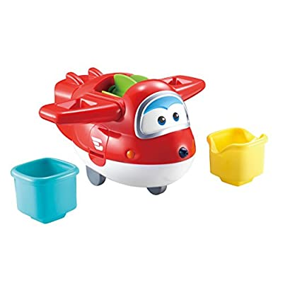 Super Wings - US721111A Fill n Spill Jett, 4-in-1 Bath Toy & Water Squirter: Toys & Games