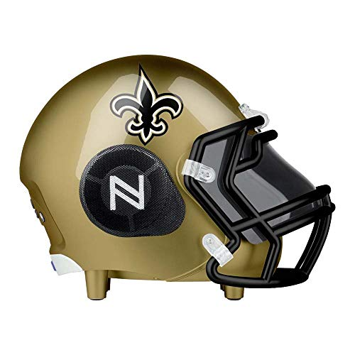 NIMA Portable Bluetooth Speaker, [Officially Licensed] NFL Helmet Wireless Dual Stereo Speaker with Built-in Microphone, Speakerphone, AUX, USB Port, Loud Subwoofer, HD Sound & Bass -Saints]()