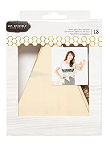 American Crafts 13 Piece Jen Hadfield DIY Home Wood Pennant Banner