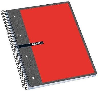 Enri 100430089 - Cuaderno microperforado, Cuadricula de 5 x 5, 160 ...