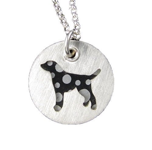 - Dalmatian Colorful Sterling Silver Necklace Pendant