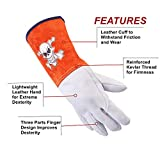 FOOWOO Goatskin TIG Leather Welding Gloves with