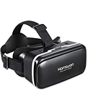 [New Version] HAMSWAN 3D Virtual Reality Headsets with Unique Design and Multifunction Button Compatible with Smartphones Within 4.0-6.11 inch