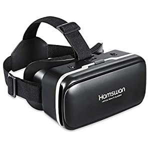 [New Version]HAMSWAN 3D Virtual Reality Headsets with Unique Design and Multifunction Button Compatible with Smartphones Within 4.0-6.11 inch