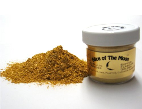 Super Flashing Golden Mica Powder 1oz, Gold Metallic Powder, Cosmetic Mica, Slice of the (Gold Slice)