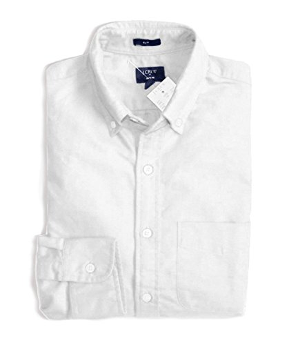J Crew Factory Men's Regular & Tall - Slim Fit Oxford Shirt (Large Tall, White) from J.Crew