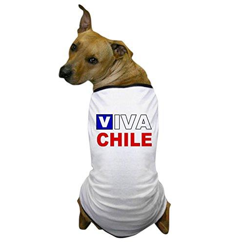CafePress - Viva Chile Flag Dog T-Shirt - Dog T-Shirt, Pet Clothing, Funny Dog Costume ()
