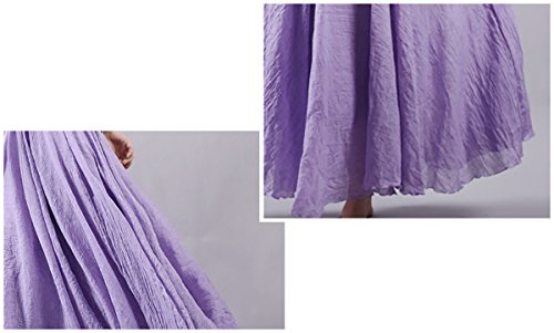 Longue 85 classique Taille 95cm Couleur Elégante Violet Pure Jupe Aivtalk En Lin Femme RZvagcqwE