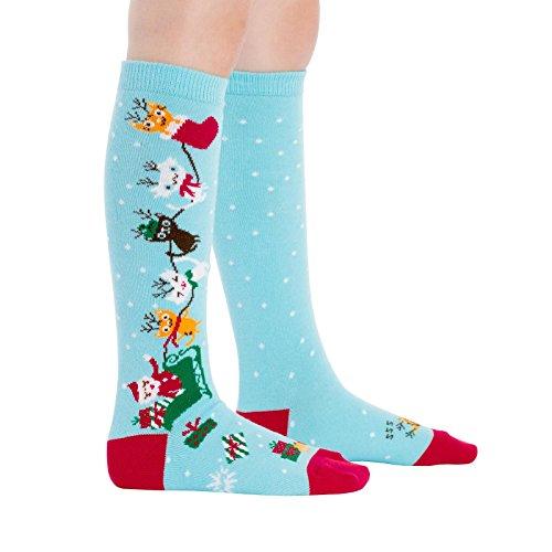 Sock It to Me, Jingle Cats, Youth Knee-High Socks, Christmas, Holiday Socks