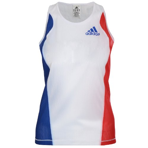 Adidas Performance – de Course Top sans manches – Femme Blanc
