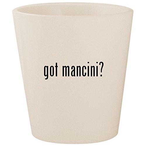 - got mancini? - White Ceramic 1.5oz Shot Glass