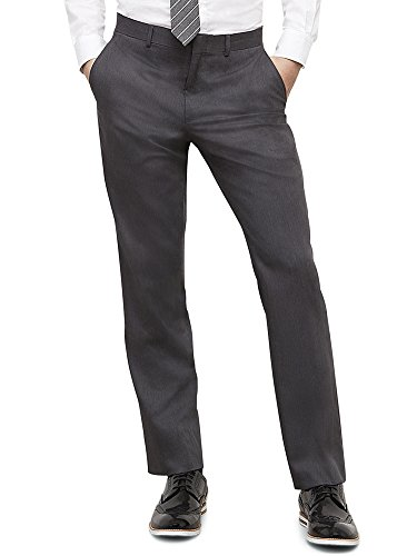 Kenneth Cole REACTION Mens Grey Solid Suit Separate Pant Gray 36x32