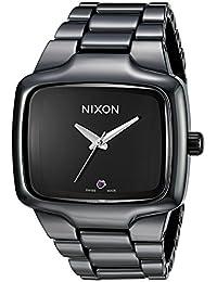 Nixon Men's A145-001 Player Automatic Black Dial Ceramic Watch