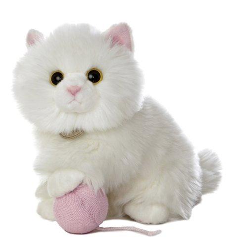 Aurora World World Miyoni Tots 9 Plush, Angora Kitten with Yarn Skein by AURORA