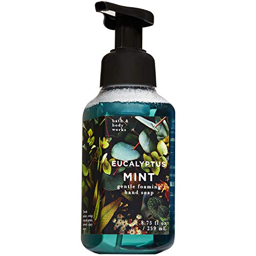 Bath and Body Works EUCALYPTUS MINT Gentle Foaming Hand Soap 8.75 Fluid Ounce (2018 Summer Edition)