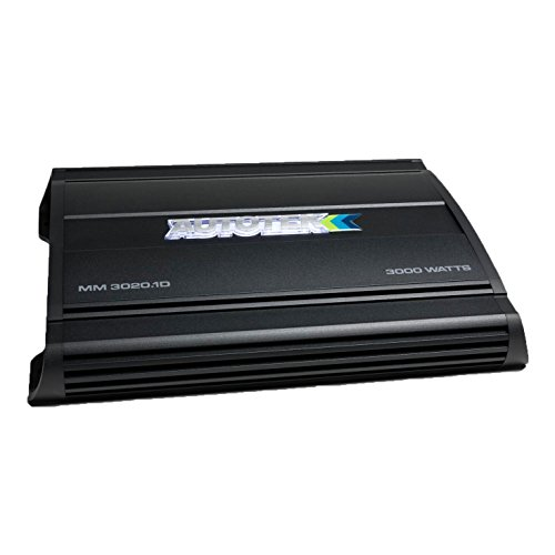 Autotek MM3020.1D Mean Machine 3000W Mono Amplifier 1-Ohm Stable Car Audio Amp ()