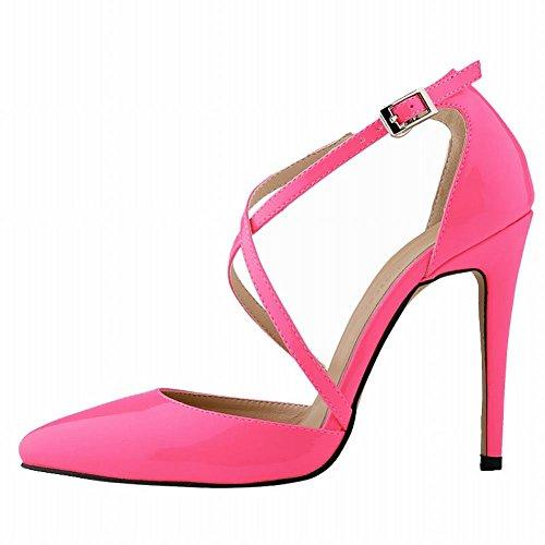 Summer High Rose Heels Womens Strap Loslandifen Stilettos Pumps Ankle Sandals xqA0Eg4wg