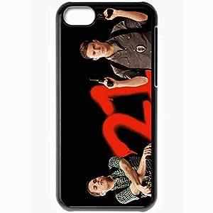 Personalized iPhone 5C Cell phone Case/Cover Skin 21 jump street jonah hill morton schmidt channing tatum greg jenko actor gun Movies Black