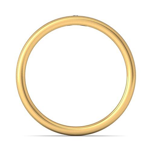 Or jaune 18K, 0,03carat Diamant Blanc (IJ | SI) en diamant